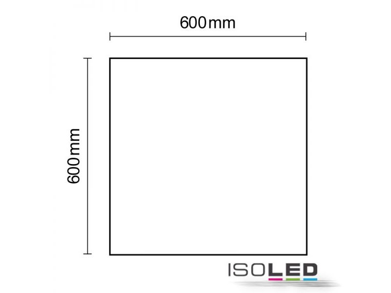 LED Panel Frameless Line 50W, 4200K, 5100Lm dimmbar