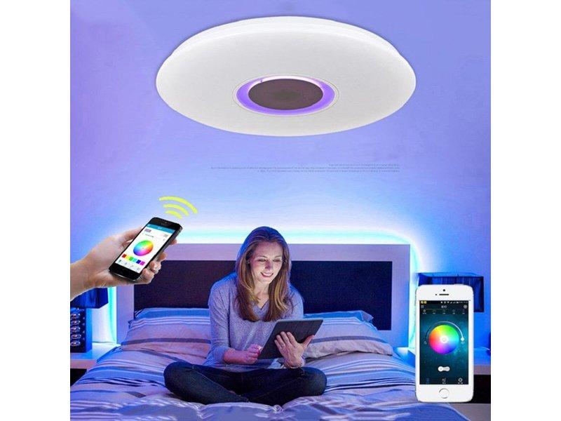 deckenleuchte rgbw inkl bluetooth lautsprecher light. Black Bedroom Furniture Sets. Home Design Ideas