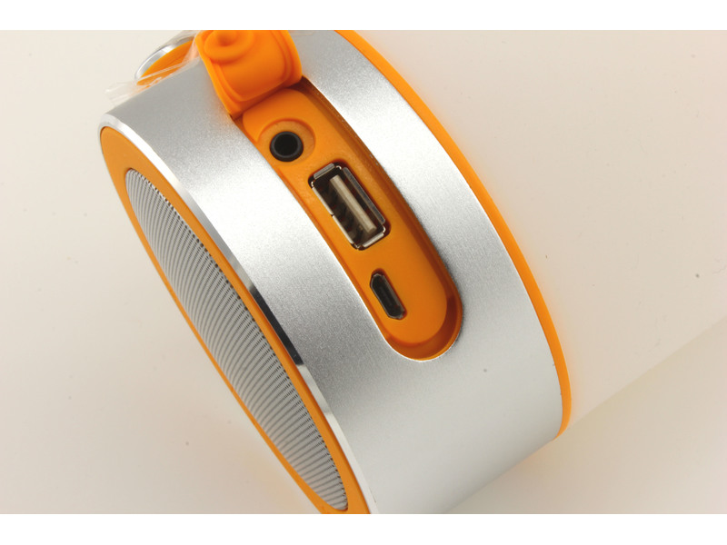 Bluetooth Outdoor Lautsprecher 3W, IPX4, weiß/orange