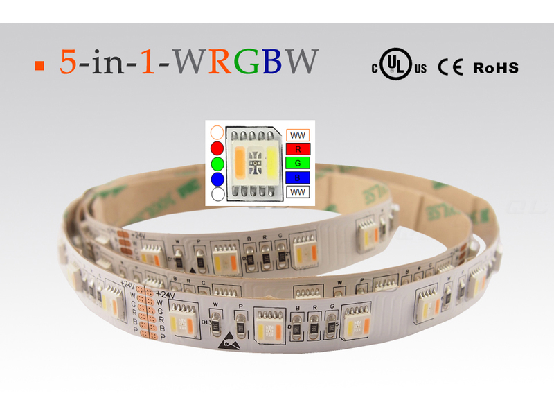 LED flexibler Strip, 5 in 1 Chip, RGB-CCT