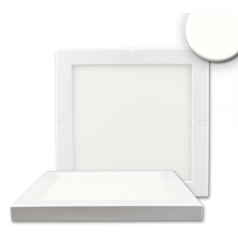 led deckenleuchte slim quadratisch 18w leuchten art of led. Black Bedroom Furniture Sets. Home Design Ideas
