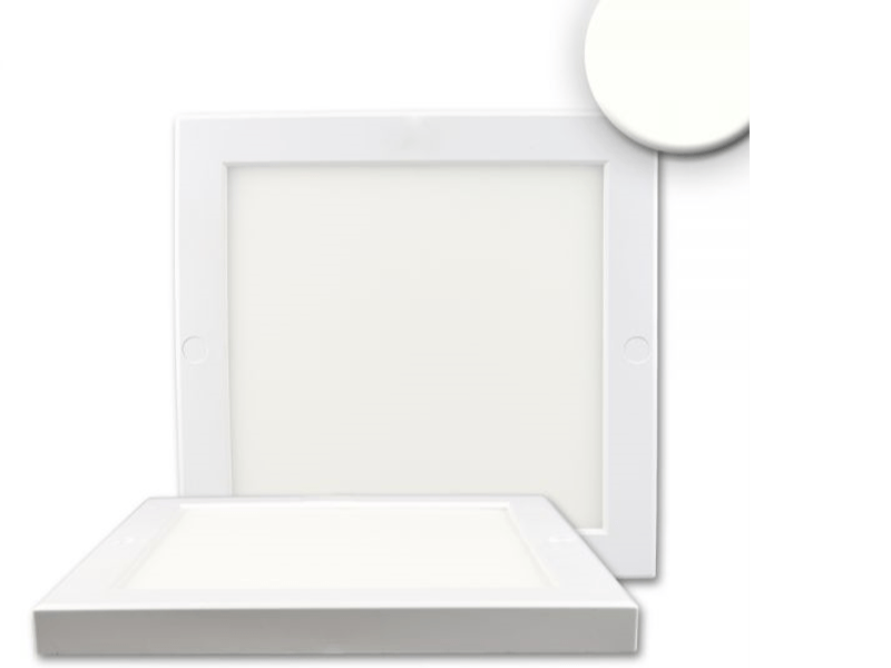 led deckenleuchte slim quadratisch 18w deckenleuchten art of led. Black Bedroom Furniture Sets. Home Design Ideas